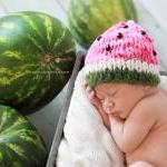 Sale -- Watermelon Baby Hat -- Phot..